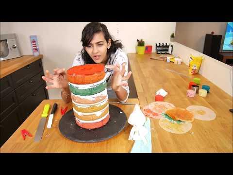 rainbow-cake-recette---gâteau-anniversaire-facile-et-rapide