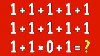 Arkadaşlarınızı Şaşırtacak Matematik Bilmeceleri