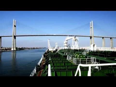 Суэцкий канал. Египет. Танкер Айнажи. / Suez Canal. Egypt. Tanker AINAZI.