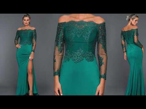 En Şık Zümrüt Yeşili Abiye Elbise Modelleri #Abiyefon'da