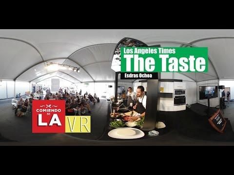 Esdras Ochoa cooking demo at Los Angeles Times, The Taste