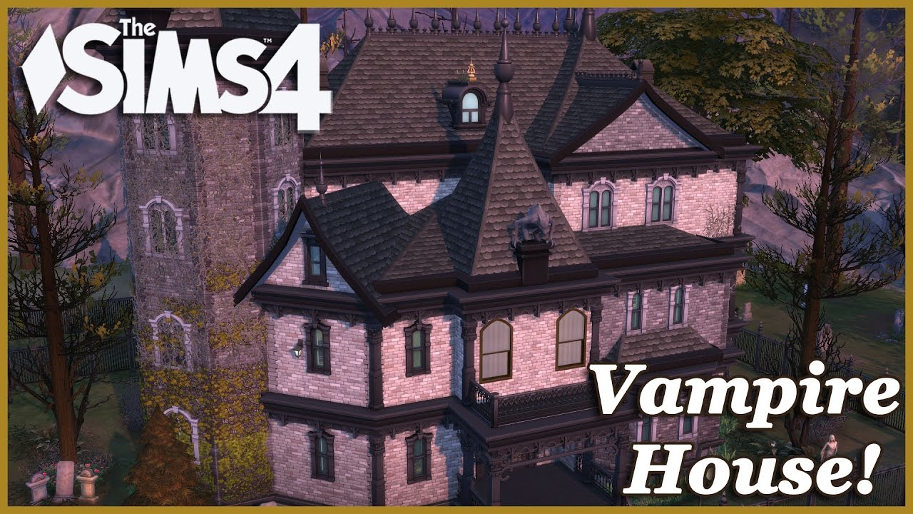 The sims 4 old victorian vampire house 2 2 house build for Classic house sims 4