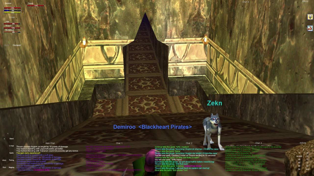 Everquest old school : Part 309 - Entrance Group - Sebilis - High Elf Cleric