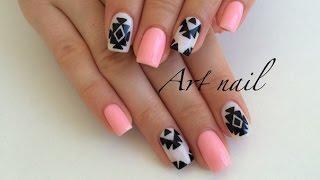 Дизайн Ногтей Акриловыми Красками! Абстракция на Ногтях! Nail Art Designs