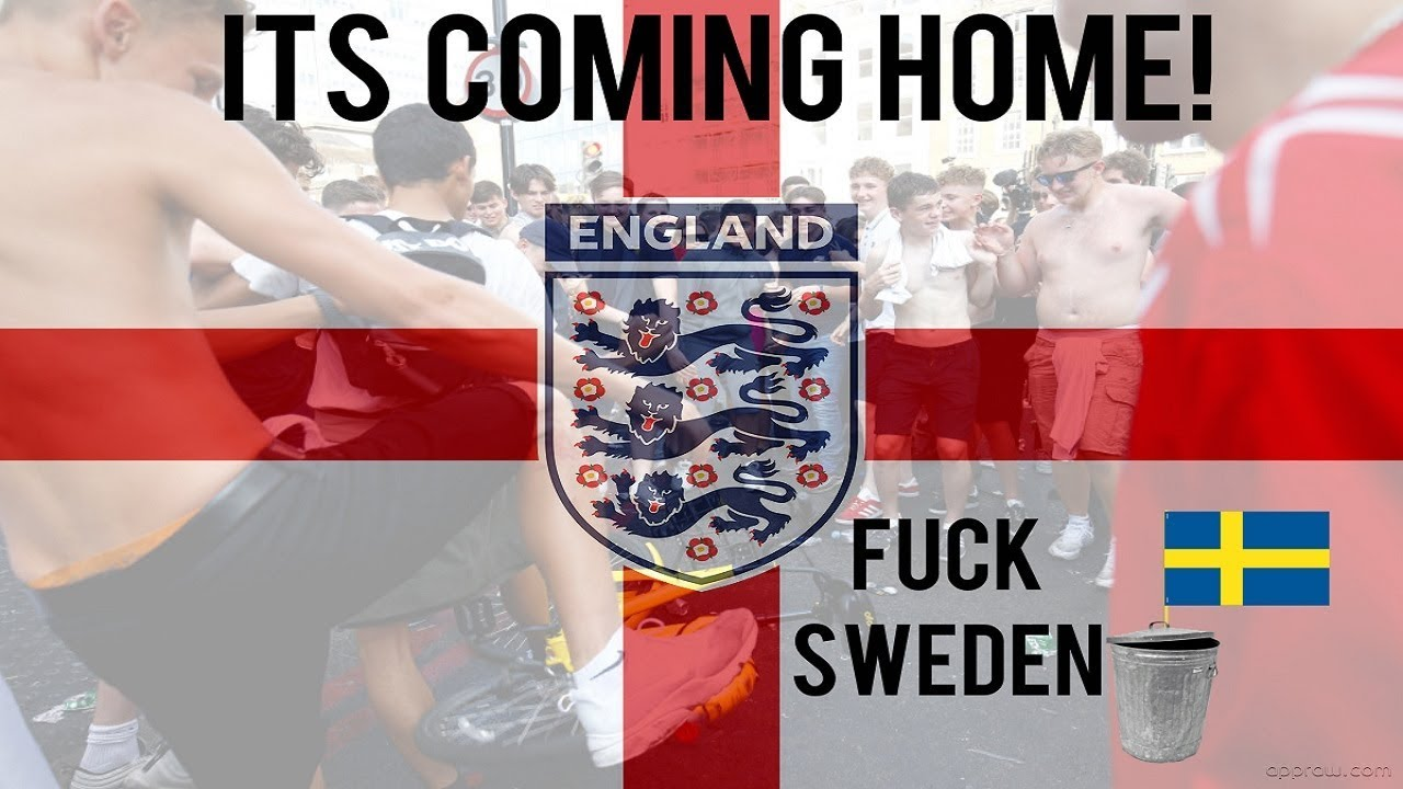English Lads Celebrating In Ikea After Winning Against Sweden