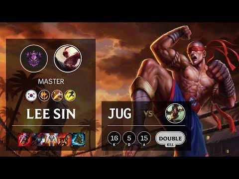 Lee Sin Jungle vs Nidalee - KR Master Patch 10.11