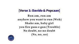Davido ft. Popcaan - Risky Lyrics (Lyric Video)