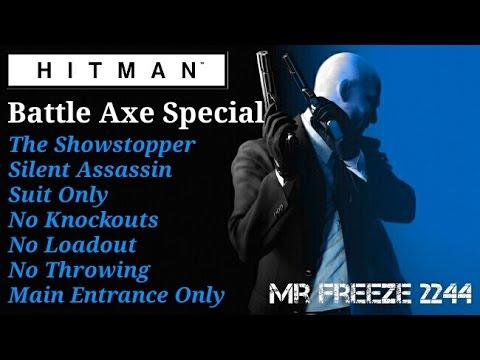 Hitman Paris Battle Axe Special Silent Assassin Suit Only No
