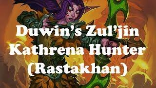 Hearthstone [WILD] Duwin's Zul'jin Kathrena Hunter: Spellstone for 6 still good? (1080p)
