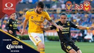 Resumen: Tigres 3 - 3 Monarcas | Clausura 2019 - J15 | Presentado por Corona