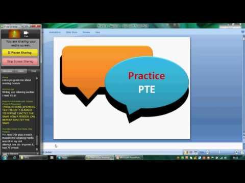 PracticePTE: Webinar on PTE Exam taking strategies