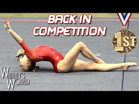 Whitney Bjerken | 1st Level 10 Gymnastics Meet after Elbow Surgery | All Around Champion