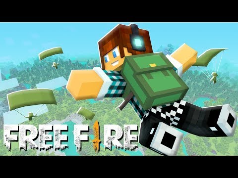 FREE FIRE NO MINECRAFT !! - *INCRÍVEL*