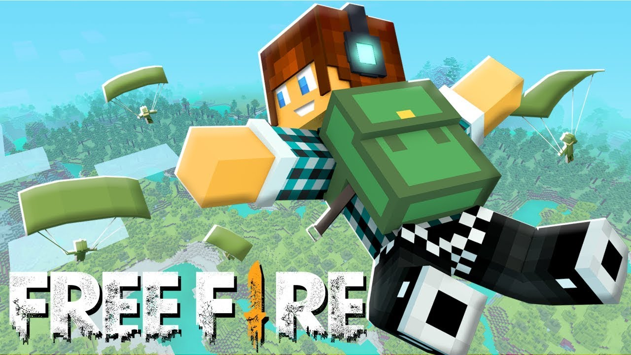 FREE FIRE NO MINECRAFT !! - *INCRÍVEL*