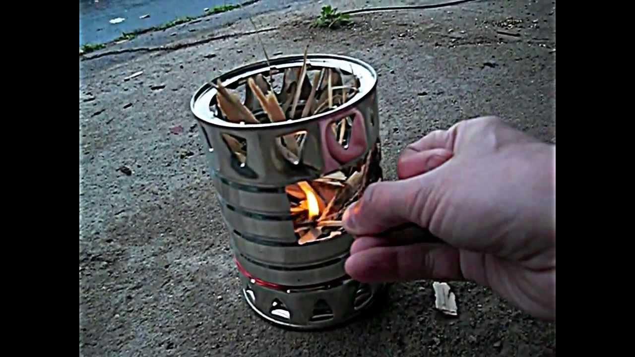 Coffee Can Twig Stove Diy Youtube