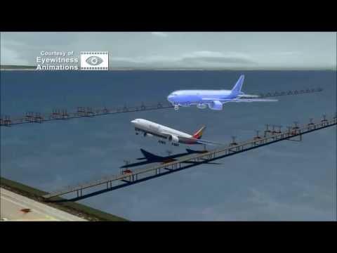 Asiana Airlines Flight 214 Crash Scene Animation Video