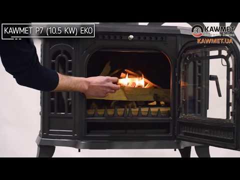 Чугунная печь KAWMET P7 (10.5 kW) EKO. Відео 2