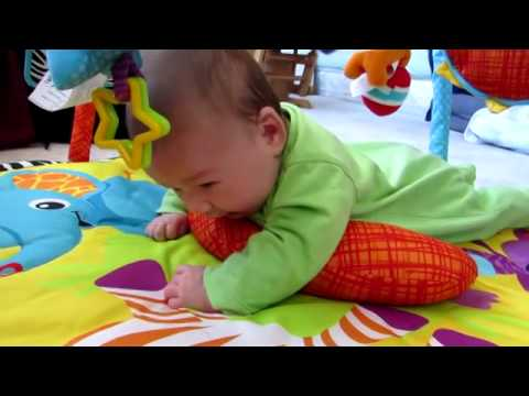 Baby Tummy Time With Pillow On Infantino Gym Youtube