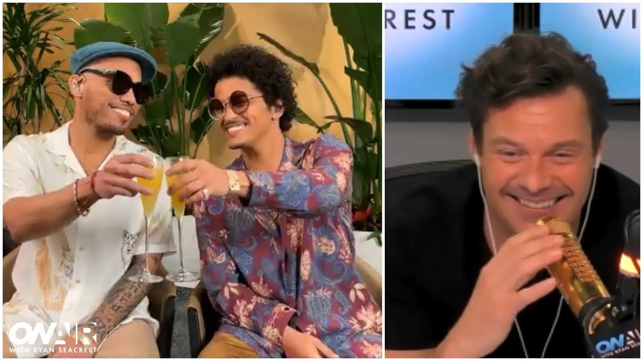Bottoms Up! Seacrest, Bruno Mars & Anderson .Paak Celebrate Silk Sonic's 'Leave The Door Open'