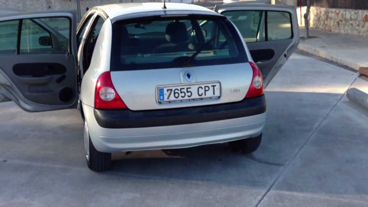 2003 renault clio 1 2 1 6v dynamique 5dr lhd for sale in spain youtube. Black Bedroom Furniture Sets. Home Design Ideas