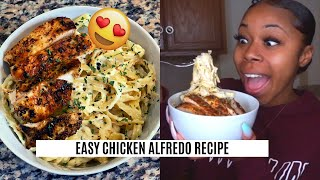 COOK WITH ME: CHICKEN ALFREDO   QUICK AFFORDABLE MEAL UNDER $15!!!