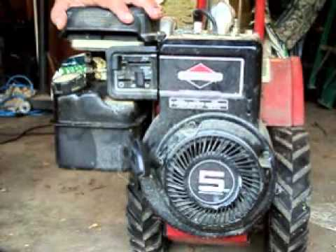 Briggs and stratton 5 hp tiller atempted cold start and for Briggs and stratton 5hp motor