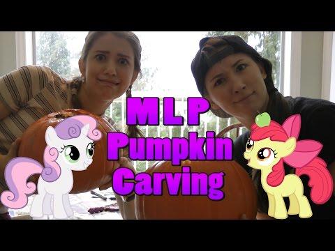 MLP Pumpkin Carving wApple Bloom & Sweetie Belle  Halloweek 2 by Michelle Creber & Claire Corlett