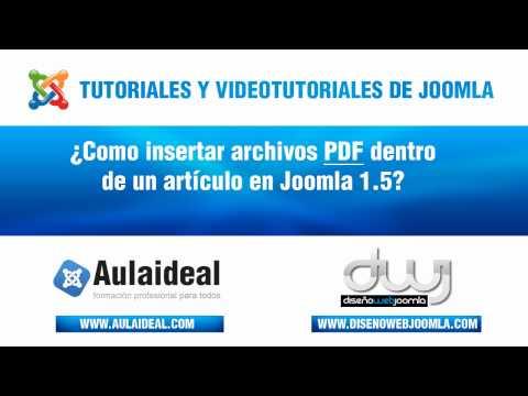 Curso De Joomla - Como Insertar  Archivos PDF En Joomla 15[HD]