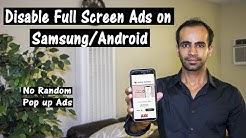 [Solved] How to Disable Full Screen Random Ads on Samsung Phones