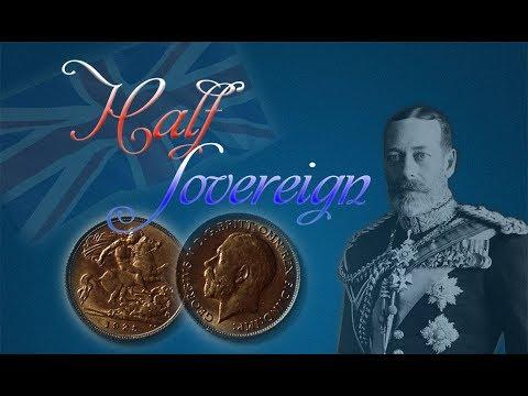 Золото Великобритании. Полсоверена 1925 года.