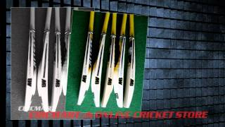 Shahid Afridi, Awais Zia, and Ahmed Shehzad Cricket Bat