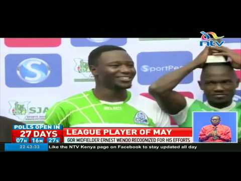 Gor Mahia's Ernest Wendo recognised for his efforts