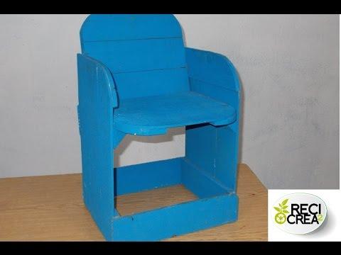 Como hacer una silla bebe con cajas de fruta youtube - Como se elabora una silla de madera ...