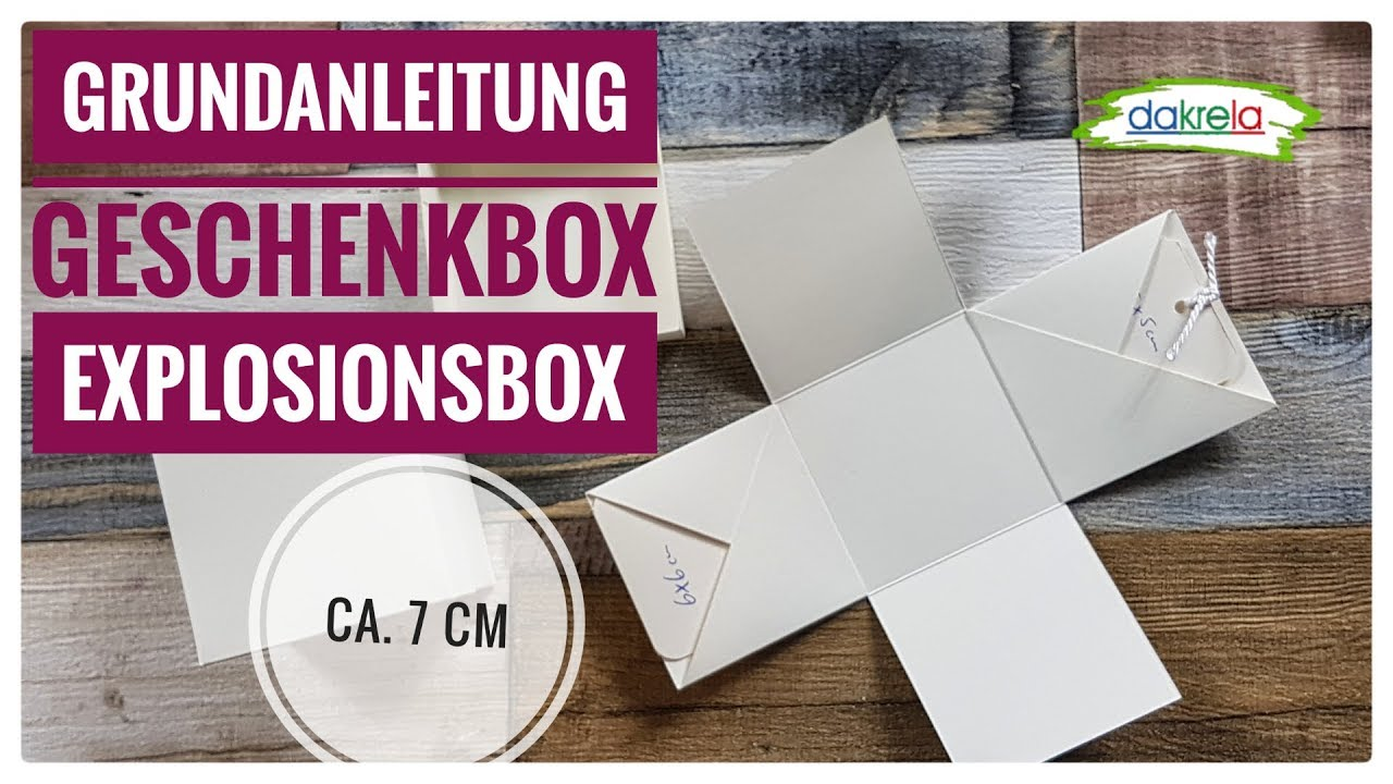 Explosion Box Template With Pockets For Tags 9