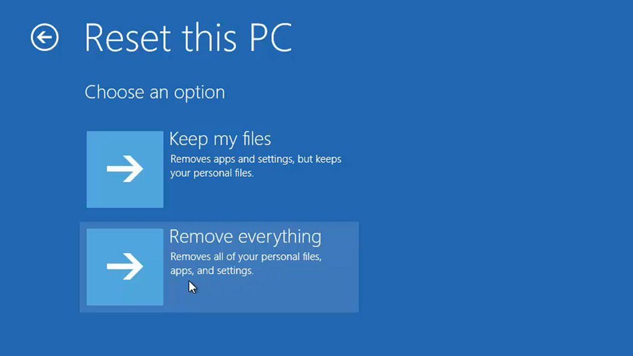 Windows 27 - How to Reset Windows to Factory Settings without installation  disc