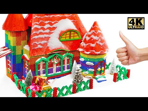 DIY - How To Build Santa House From Magnetic Balls (Satisfying) | Magnet World Series