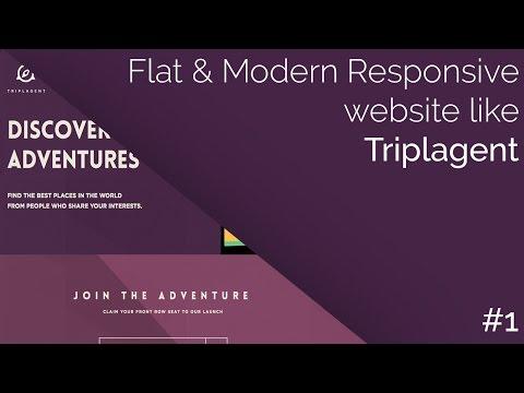 How-to: Make a Flat & Modern Responsive Website like Triplagent Part #1 | CodingTuts