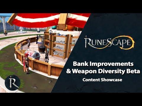 Bank Improvements & Weapon Diversity Beta - RuneScape Content Showcase