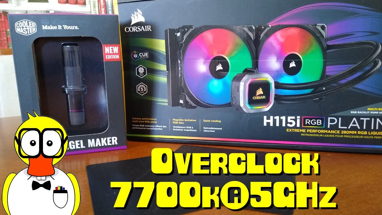 Overclock: Watercooler corsair h115i vs 7700k@5GHz