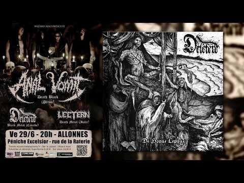 Les Black Metalleux de DÉLÉTÈRE dévoilent pour la première fois ce qui se cache derrière les paroles de leur nouvel album fraîchement sorti qu'ils présenteront au Mans le 29-6-2018 avec Anal Vomit et Lectern.