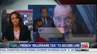 France to tax 75 % of millionaire salaries  12/30/13   (rich vs poor)