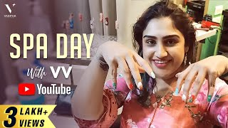 Family Spa Day | Healthy Hair and Acrylic Nail Art | Vanitha Vijaykumar