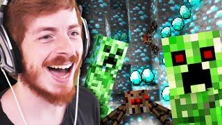 LA CHASSE AUX DIAMANTS ( purée c'est dangereux ) Minecraft