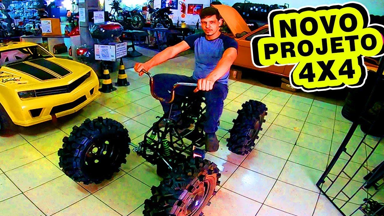 Novo PROJETO 4x4 e SORTEIO Mini MOTO
