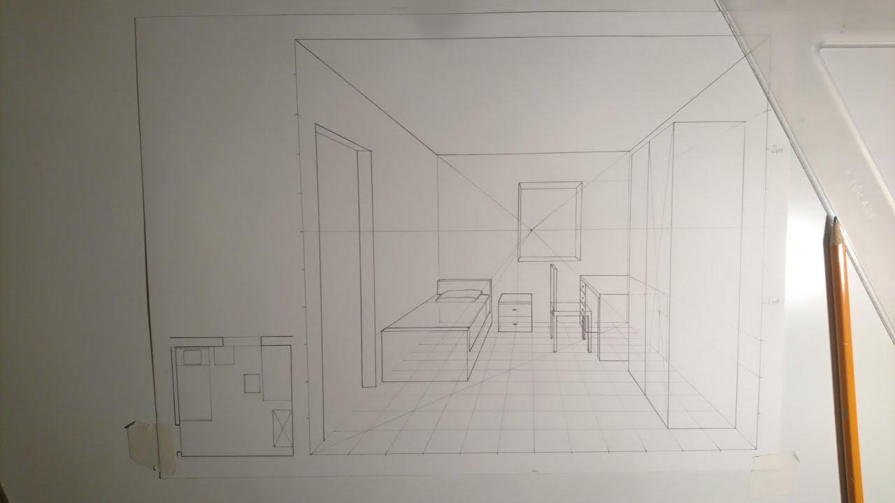 Camera Da Letto In Prospettiva Centrale disegnare una stanza in prospettiva centrale - gli arredi