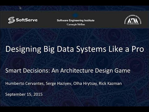 Designing Big Data Systems like a Pro: webinar recording