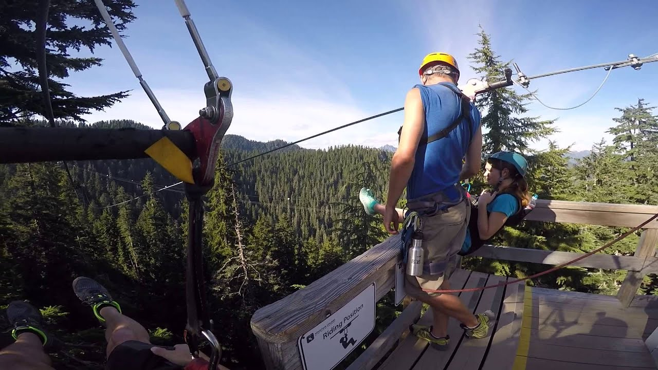 Zipline Grouse Mountain Vancouver BC