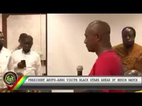 Ghana President Akufo Addo Visits Black Stars In Egypt
