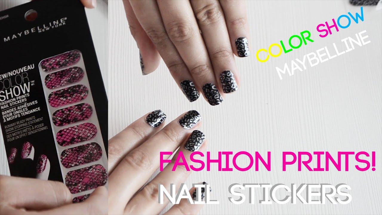 Sticker de uñas COLOR SHOW de Maybelline ¿Como usarlo? Fashion Nails ...