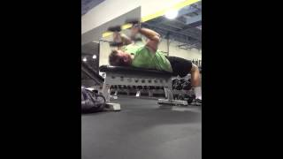 Dan Edwards Rolling Dumbbell Tricep Extensions